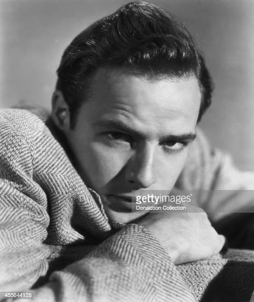 Actor Marlon Brando poses for a portrait circa 1950