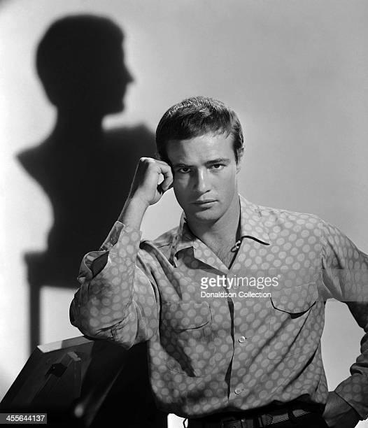 Actor Marlon Brando poses for a portrait circa 1955