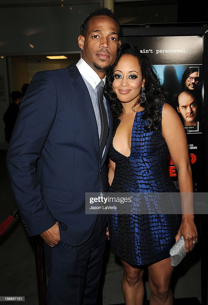 Actor Marlon Wayans and actress Essence Atkins attend the premiere of 'A Haunted House' at ArcLight Hollywood on January 3, 2013 in Hollywood, California.