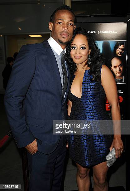 Actor Marlon Wayans and actress Essence Atkins attend the premiere of 'A Haunted House' at ArcLight Hollywood on January 3 2013 in Hollywood...