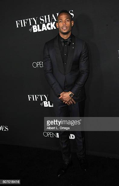 Actor Marlon Wayans arrives for the premiere of Open Roads Films' 'Fifty Shades Of Black' held at Regal Cinemas LA Live on January 26 2016 in Los...