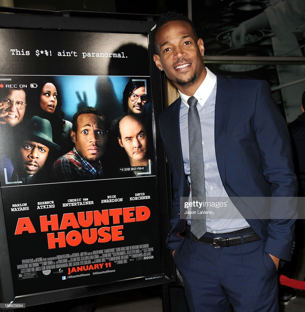 Actor Marlon Wayans attends the premiere of 'A Haunted House' at ArcLight Hollywood on January 3, 2013 in Hollywood, California.