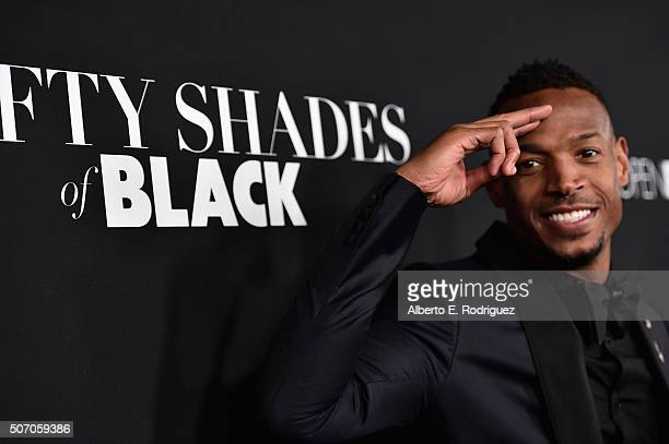 Actor Marlon Wayans attends the premiere of Open Road Films' 'Fifty Shades of Black' at Regal Cinemas LA Live on January 26 2016 in Los Angeles...