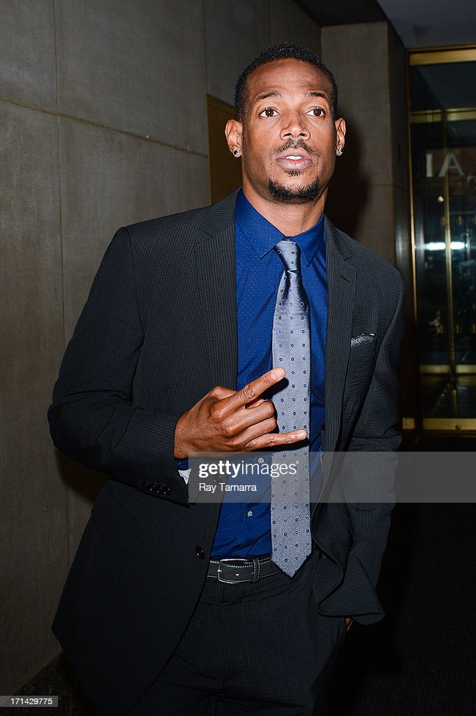 Actor Marlon Wayans leaves the 'Today Show' taping at the NBC Rockefeller Center Studios on June 24, 2013 in New York City.