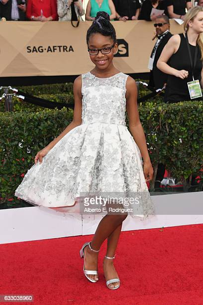 Actor Marsai Martin attends the 23rd Annual Screen Actors Guild Awards at The Shrine Expo Hall on January 29 2017 in Los Angeles California