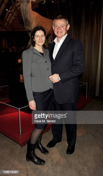 Actor Martin Clunes attends a private viewing of the Natural History Museum's new exhibit 'Sexual Nature' at the Natural History Museum on February 8...