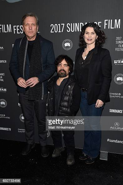 Actor Martin Donovan actor Peter Dinklage and actress Julia Ormond attend the 'Rememory' Premiere on day 7 of the 2017 Sundance Film Festival at...