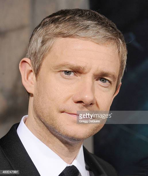 Actor Martin Freeman arrives at the Los Angeles premiere of 'The Hobbit The Desolation Of Smaug' at TCL Chinese Theatre on December 2 2013 in...