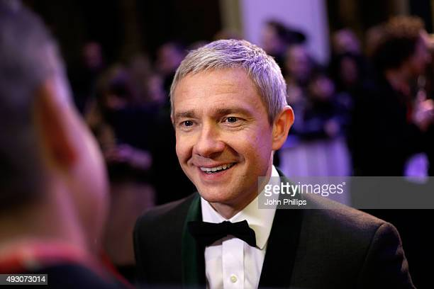 Actor Martin Freeman attends the BFI London Film Festival Awards at Banqueting House on October 17 2015 in London England