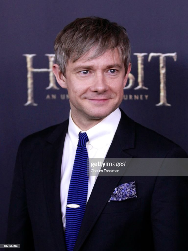 Actor Martin Freeman attends 'The Hobbit: An Unexpected Journey' premiere at the Ziegfeld Theater on December 6, 2012 in New York City.