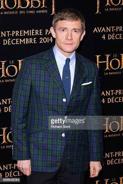 Actor Martin Freeman attends 'The Hobbit The Battle Of The Five Armies' Paris Premiere at Le Grand Rex on December 4 2014 in Paris France