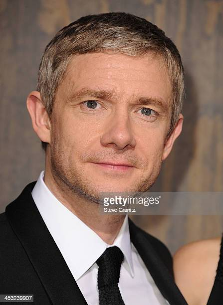 Actor Martin Freeman attends the Los Angeles premiere of 'The Hobbit The Desolation Of Smaug' at TCL Chinese Theatre on December 2 2013 in Hollywood...