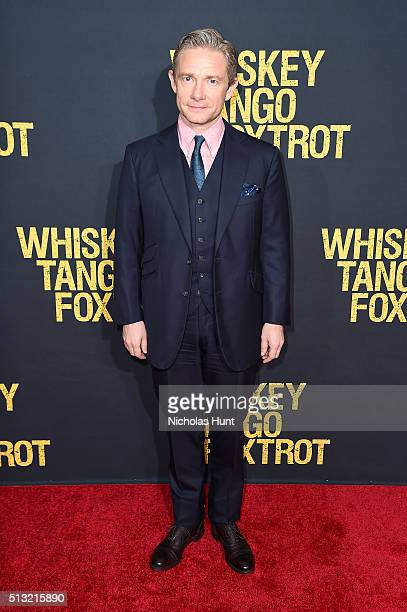 Actor Martin Freeman attends the 'Whiskey Tango Foxtrot' world premiere at AMC Loews Lincoln Square 13 theater on March 1 2016 in New York City