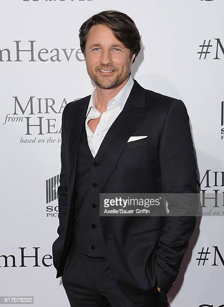 Actor Martin Henderson arrives at the premiere of Columbia Pictures' 'Miracles From Heaven' at ArcLight Hollywood on March 9 2016 in Hollywood...