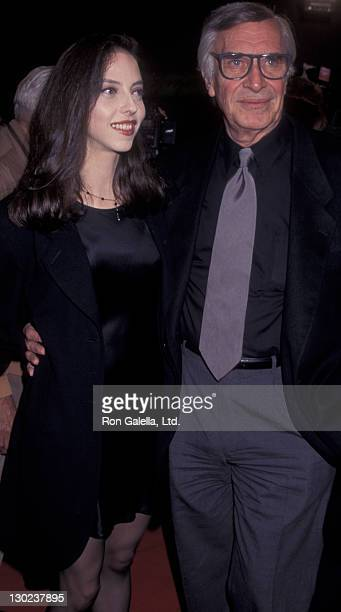 Actor Martin Landau and daughter Juliet Landau attend the premiere of 'The Birdcage' on March 5 1996 at Mann Village Theater in Westwood California