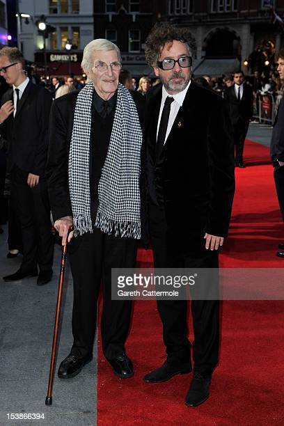 Actor Martin Landau and filmmaker Tim Burton attend the 'Frankenweenie 3D' which opens the 56th BFI London Film Festival at Odeon Leicester Square on...
