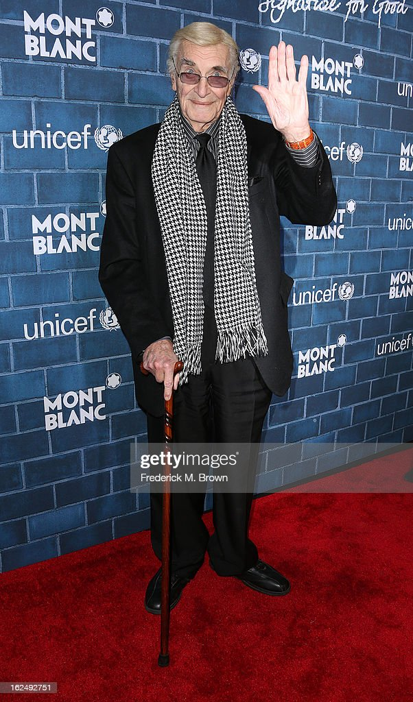 Actor <a gi-track='captionPersonalityLinkClicked' href=/galleries/search?phrase=Martin+Landau&family=editorial&specificpeople=209352 ng-click='$event.stopPropagation()'>Martin Landau</a> attends the Montblanc And UNICEF Host Pre-Oscar Brunch Celebrating Their Limited Edition Collection at the Hotel Bel-Air on February 23, 2013 in Los Angeles, California.