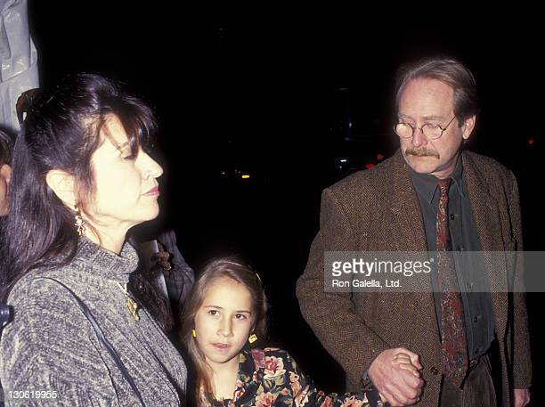 Actor Martin Mull wife and daughter attend the premiere of 'Mrs Doubtfire' on November 22 1993 at the Academy Theater in Beverly Hills California