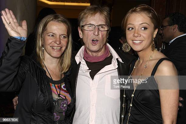Actor Martin Semmelrogge and wife Sonja and daughter Joanna attend the Movie Meets Media at Ritz Carlton Curtain Club on February 12 2010 in Berlin...