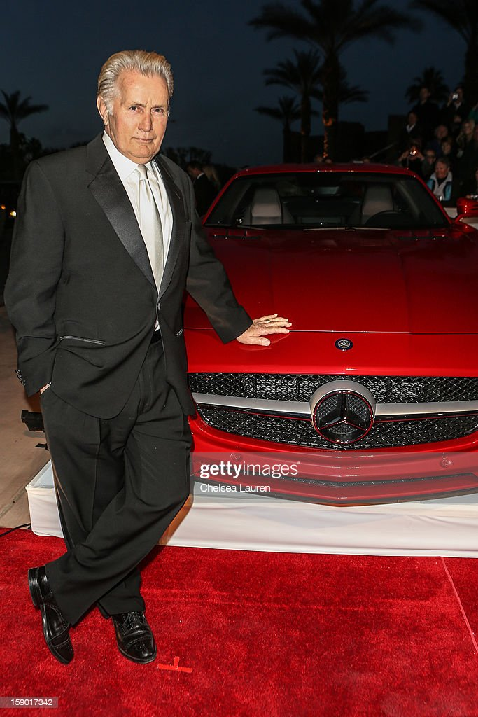 Actor Martin Sheen arrives in style with Mercedes-Benz at the Palm Springs International Film Festival at the Palm Springs Convention Center on January 5, 2013 in Palm Springs, California.