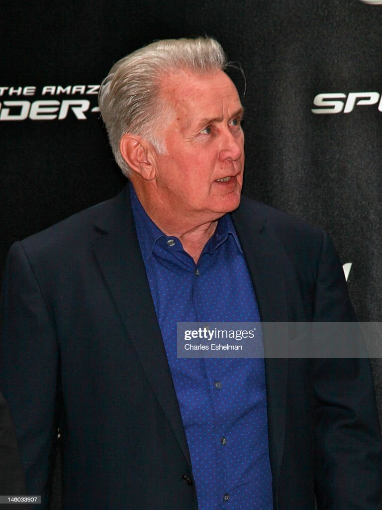 Actor <a gi-track='captionPersonalityLinkClicked' href=/galleries/search?phrase=Martin+Sheen&family=editorial&specificpeople=203224 ng-click='$event.stopPropagation()'>Martin Sheen</a> attends the 'The Amazing Spider-Man' New York City Photo Call at Crosby Street Hotel on June 9, 2012 in New York City.