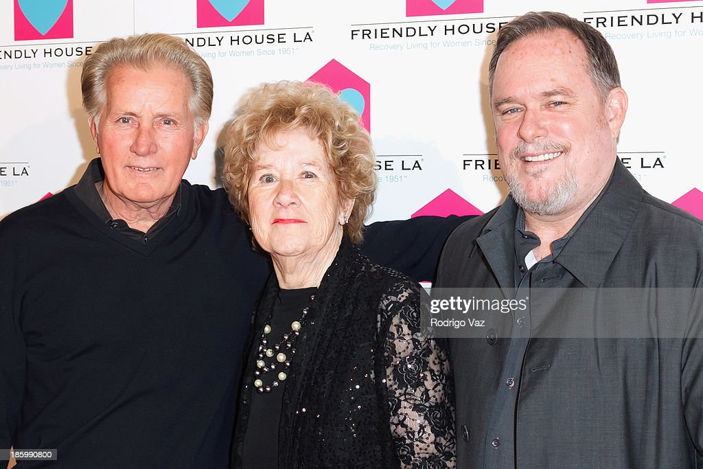 Actor <a gi-track='captionPersonalityLinkClicked' href=/galleries/search?phrase=Martin+Sheen&family=editorial&specificpeople=203224 ng-click='$event.stopPropagation()'>Martin Sheen</a>, Friendly House Executive Director <a gi-track='captionPersonalityLinkClicked' href=/galleries/search?phrase=Peggy+Albrecht&family=editorial&specificpeople=220364 ng-click='$event.stopPropagation()'>Peggy Albrecht</a> and honoree Earl Hightower attend the Friendly House Los Angeles Annual Awards Luncheon at The Beverly Hilton Hotel on October 26, 2013 in Beverly Hills, California.