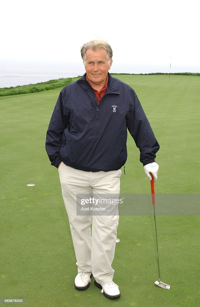 Actor Martin Sheen participates in the putting challenge at the Michael Douglas Celebrity Golf Tournament at Trump National Golf Club in Rancho Palos...