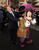 Actor Martin Short and Mickey Mouse arrive at premiere of Walt Disney Pictures' 'Pirates of the Caribbean On Stranger Tides' held at Disneyland on...