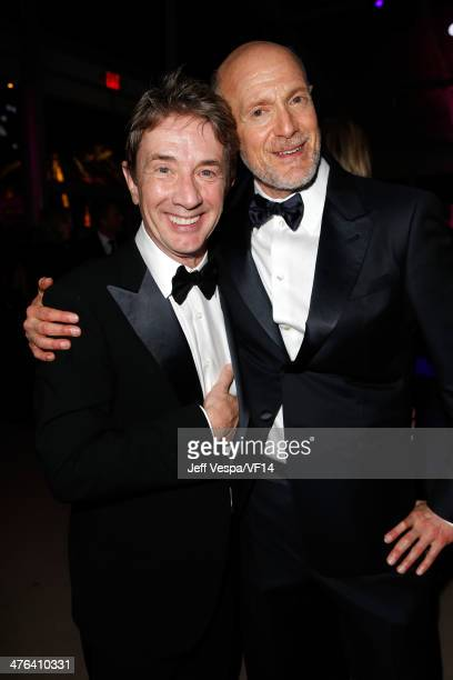 Actor Martin Short and Producer Neil Meron attend the 2014 Vanity Fair Oscar Party Hosted By Graydon Carter on March 2 2014 in West Hollywood...