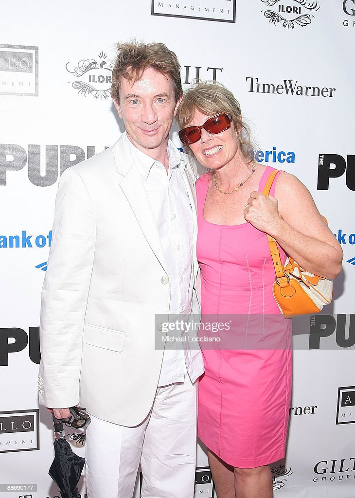 Actor Martin Short and wife, actress Nancy Dolman attend the 2009 Shakespeare in the Park opening night gala performance of 'Twelfth Night' at the Delacorte Theater on June 25, 2009 in New York City.