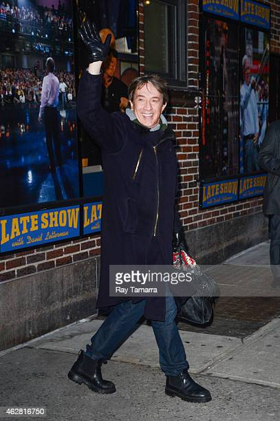 Actor Martin Short leaves the 'Late Show With David Letterman' taping at the Ed Sullivan Theater on February 5 2015 in New York City