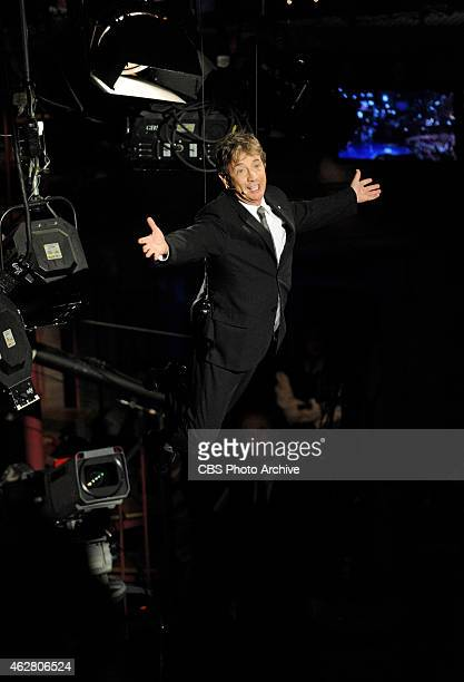 Actor Martin Short makes a grand entrance when he visits the Late Show with David Letterman Thursday Feb 5 2015 on the CBS Television Network