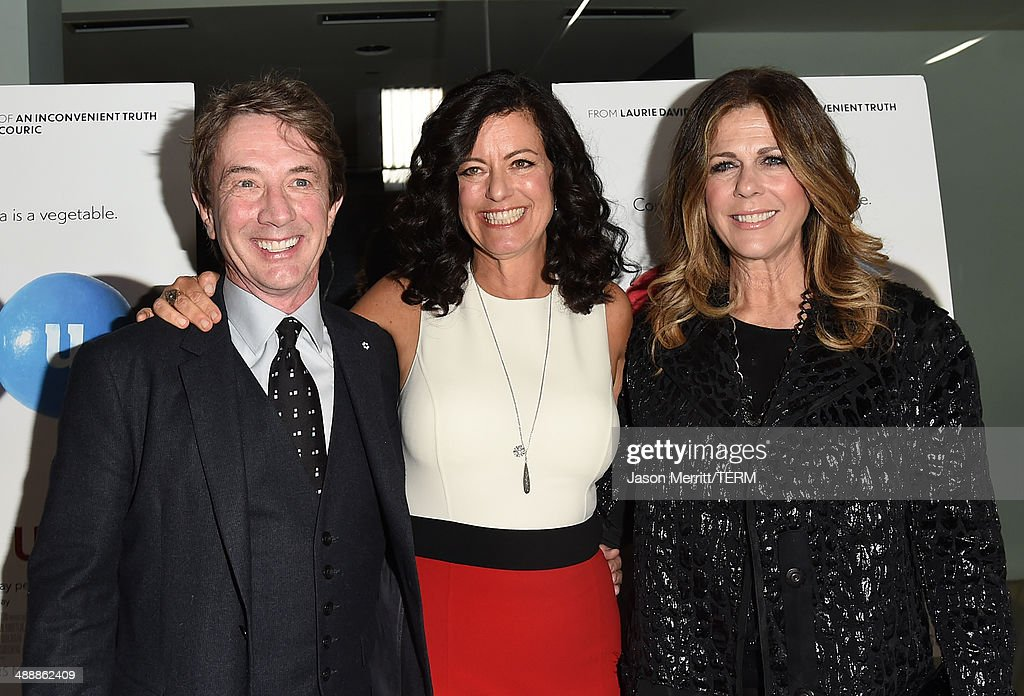 Actor <a gi-track='captionPersonalityLinkClicked' href=/galleries/search?phrase=Martin+Short&family=editorial&specificpeople=211569 ng-click='$event.stopPropagation()'>Martin Short</a>, producer <a gi-track='captionPersonalityLinkClicked' href=/galleries/search?phrase=Laurie+David&family=editorial&specificpeople=556147 ng-click='$event.stopPropagation()'>Laurie David</a>, and actress Rita Wilson attend the 'Fed Up' premiere held at the Pacfic Design Center on May 8, 2014 in West Hollywood, California.