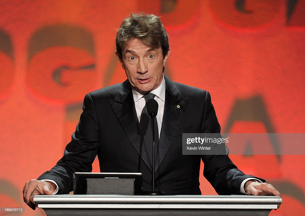 Actor Martin Short speaks onstage during the 65th Annual Directors Guild Of America Awards at Ray Dolby Ballroom at Hollywood & Highland on February 2, 2013 in Los Angeles, California.