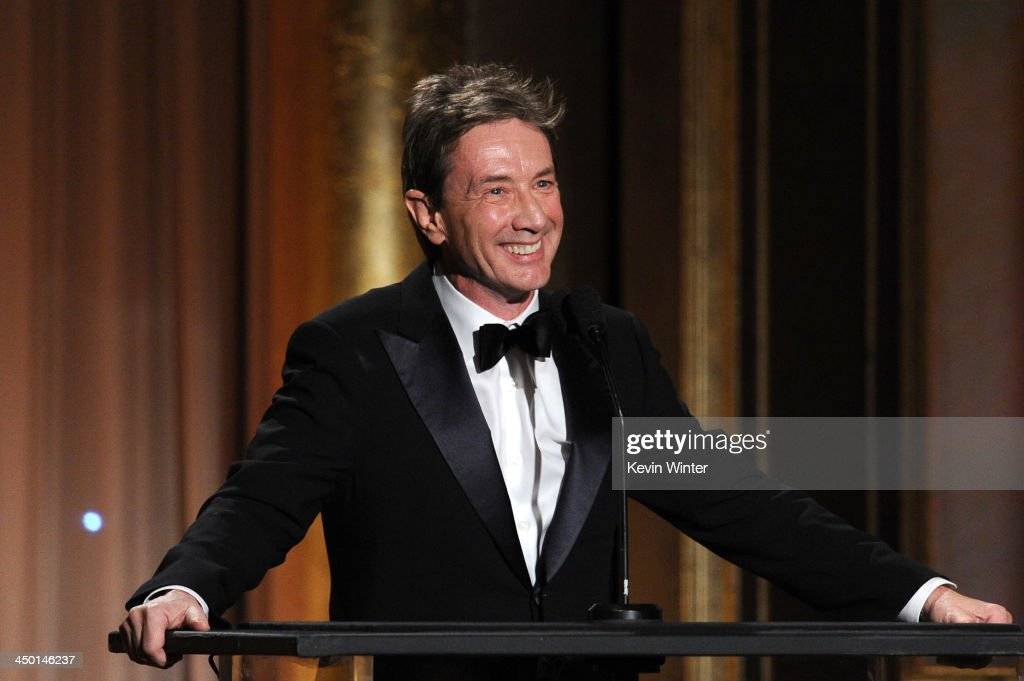 Actor <a gi-track='captionPersonalityLinkClicked' href=/galleries/search?phrase=Martin+Short&family=editorial&specificpeople=211569 ng-click='$event.stopPropagation()'>Martin Short</a> speaks onstage during the Academy of Motion Picture Arts and Sciences' Governors Awards at The Ray Dolby Ballroom at Hollywood & Highland Center on November 16, 2013 in Hollywood, California.