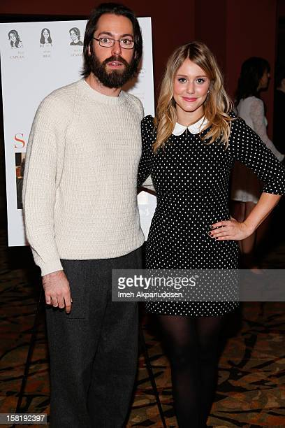 Actor Martin Starr and actress Julianna Guill attend the screening of 'Save The Date' on December 10 2012 in Los Angeles California