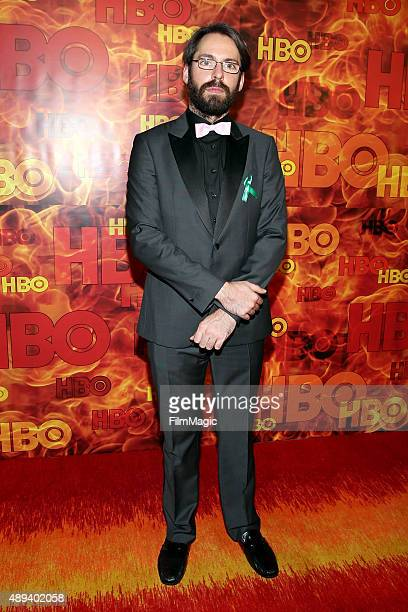 Actor Martin Starr attends HBO's Official 2015 Emmy After Party at The Plaza at the Pacific Design Center on September 20 2015 in Los Angeles...