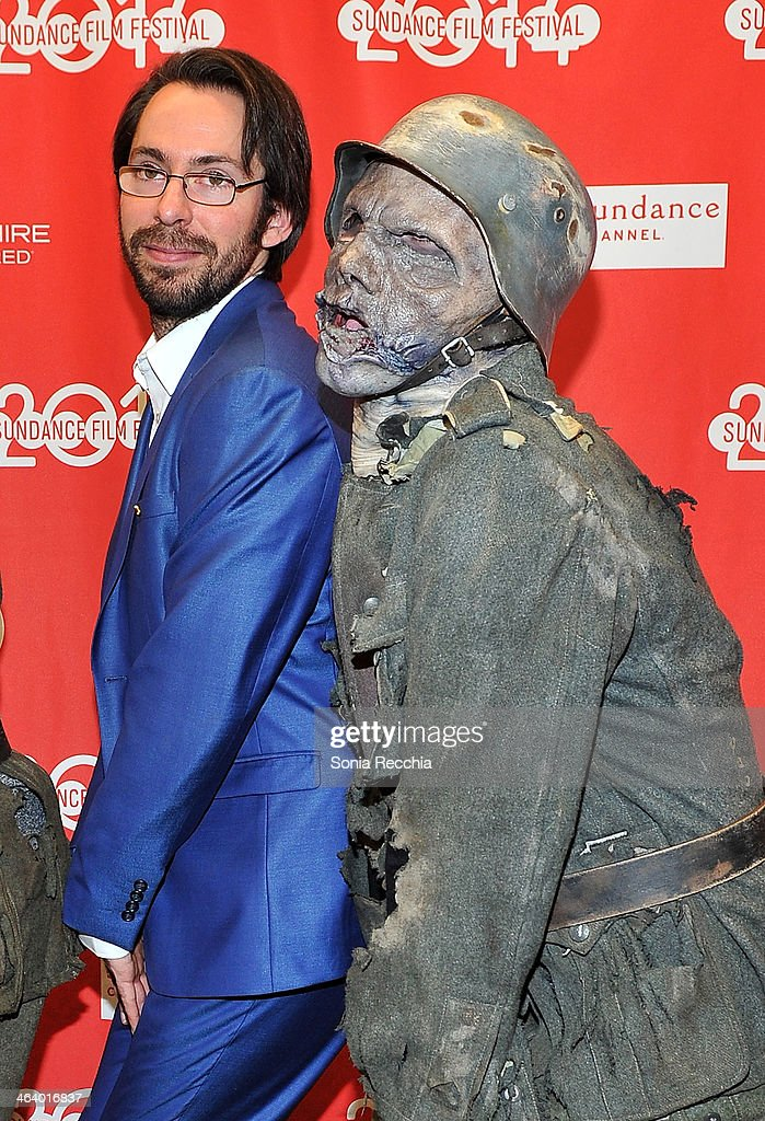 Actor Martin Starr (L) attends the 'Dead Snow; Red vs. Dead' premiere at Library Center Theater during the 2014 Sundance Film Festival on January 19, 2014 in Park City, Utah.