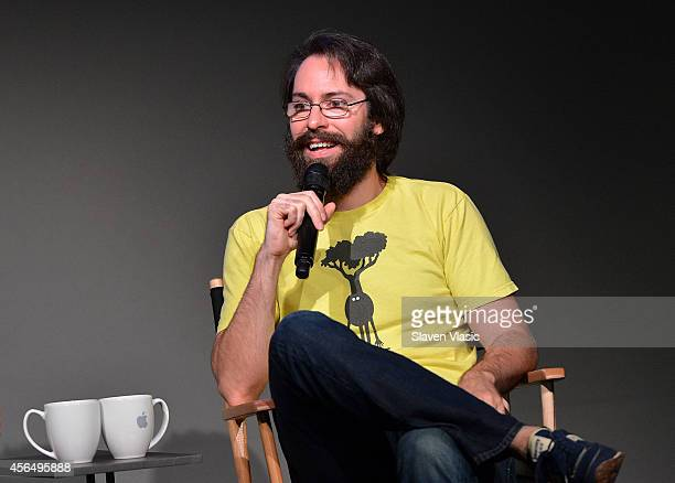 Actor Martin Starr talks about 'Dead Snow 2 Red vs Dead' at Apple Store Soho on October 1 2014 in New York City