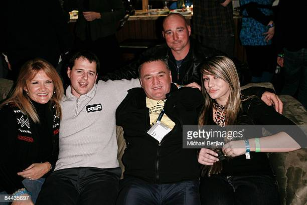 Actor Martin Strel and guest at The Green Lodge and Skype host the 'Big River Man' Premiere Party on January 16 2009 in Park City Utah