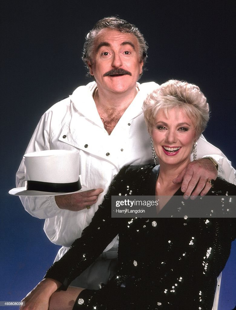 Actor Marty Ingles poses for a portrait with his wife actress and singer Shirley Jones in 1986 in Los Angeles, California.