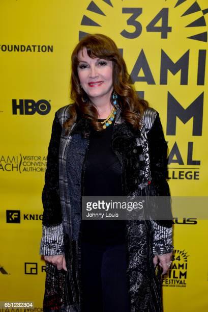 Actor Mary Apick attends the Miami Dade College's Miami Film Festival for 'Monday Nights At Seven' at O Cinema Miami Beach on March 9 2017 in Miami...