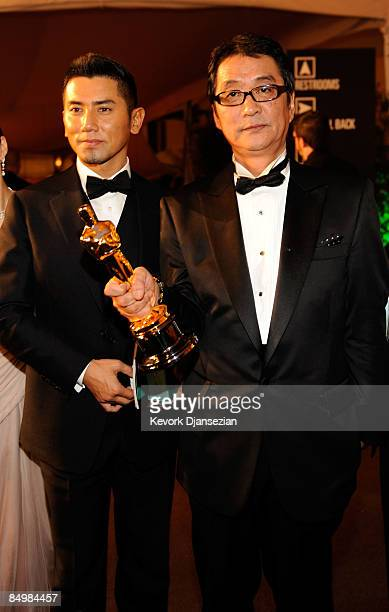 Actor Masahiro Motoki and director Yojiro Takita attend the 81st Annual Academy Awards Governor's Ball held at Kodak Theatre on February 22 2009 in...