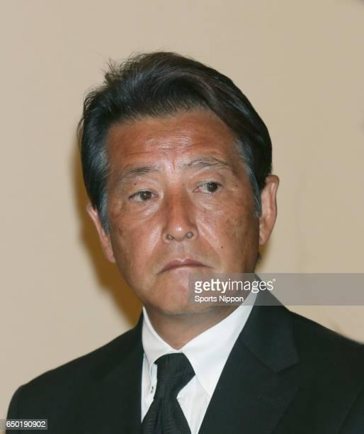 Actor Masaki Kanda attends 29th death anniversary ceremony of actor Yujiro Ishihara on July 27 2015 in Tokyo Japan