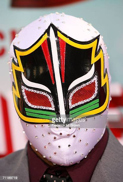 Actor Mascarita Sagrada arrives at the premiere of Paramount Pictures 'Nacho Libre' held at the Grauman's Chinese Theatre on June 12 2006 in...
