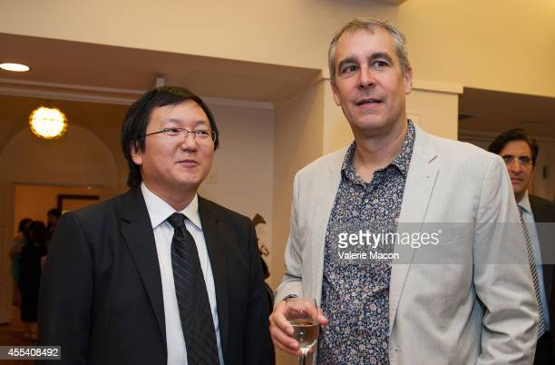 Actor Masi Oka and producer David Bartis attend the 2nd Annual Japan Cool Content Contribution Awards Ceremony on September 13 2014 in Los Angeles...