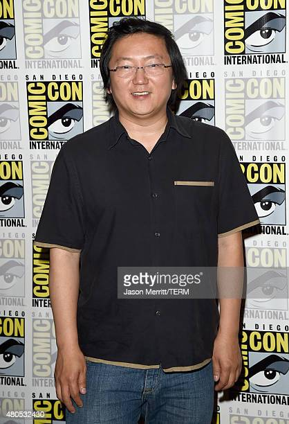 Actor Masi Oka attends 'Heroes Reborn' Press Room during ComicCon International 2015 at Hilton Bayfront on July 12 2015 in San Diego California