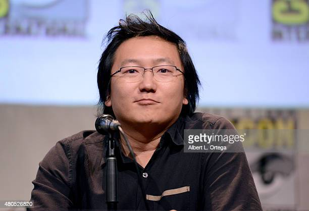 Actor Masi Oka speaks onstage at the 'Heroes Reborn' exclusive extended trailer and panel during ComicCon International 2015 at the San Diego...