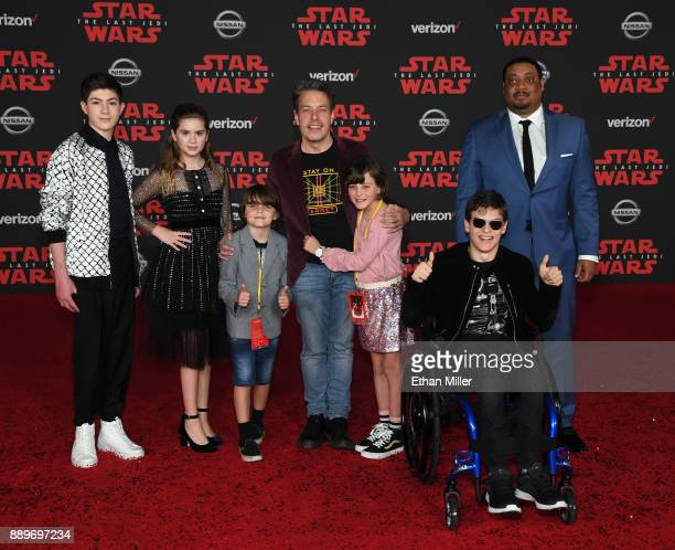 Actor Mason Cook actress Kyla Kenedy Walter Bowie his father actor John Ross Bowie his daughter Nola Bowie and actors Micah Fowler and Cedric...