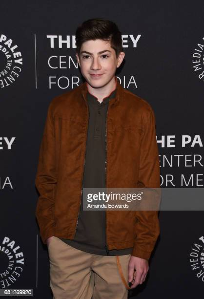 Actor Mason Cook arrives at the 2017 PaleyLive LA Spring Season An Evening With 'Speechless' event at The Paley Center for Media on May 9 2017 in...